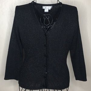 Adrianna Papell evening essentials beaded cardigan
